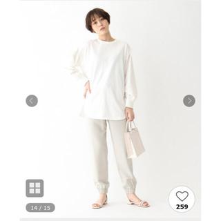 エージーバイアクアガール(AG by aquagirl)のKAORU様専用マットサテンジョガーパンツ ホワイト(カジュアルパンツ)