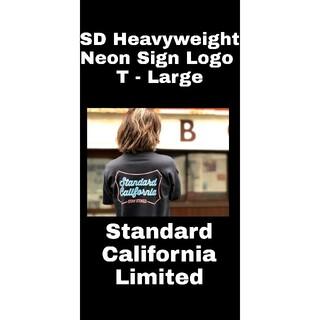 スタンダードカリフォルニア(STANDARD CALIFORNIA)の未使用 Standard California Neon Sign Tシャツ L(Tシャツ/カットソー(半袖/袖なし))