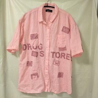 ドラッグストアーズ(drug store's)のdrugstore's ドラッグストアーズ 半袖シャツ ピンク ③(シャツ/ブラウス(半袖/袖なし))