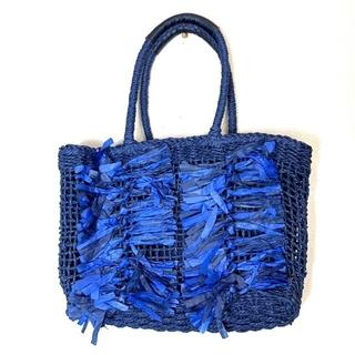 ナノユニバース(nano・universe)の【美品】nano universeナノユニバース ペーパーフリンジトートバッグ(トートバッグ)