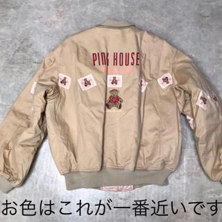 ピンクハウス(PINK HOUSE)のPINKHOUSE 難あり価格 昭和レトロヴィンテージブルゾン熊刺繍(ブルゾン)