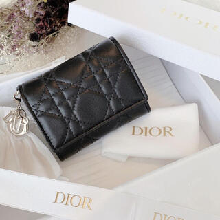 ディオール(Dior)の新品 ディオール コンパクト ウォレット 財布 ミニウォレット ladydior(財布)