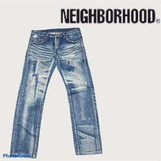 ネイバーフッド(NEIGHBORHOOD)のネイバーフッド リメイク デニム ジーンズ 人気 刺繍(デニム/ジーンズ)