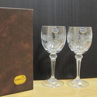 ボヘミア クリスタル(BOHEMIA Cristal)の新品 BOHEMIA CRYSTAL ボヘミアクリスタル 花柄 ワイングラス(グラス/カップ)