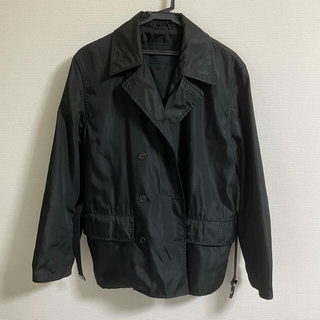 PRADA - プラダ ナイロンギャバジン ダブルジャケット コート