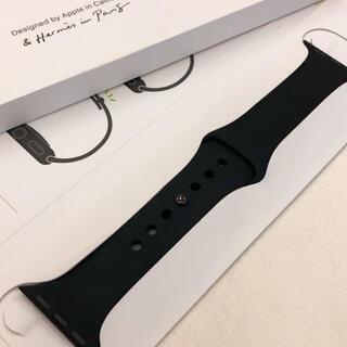 アップルウォッチ(Apple Watch)のアップルウォッチ エルメス スポーツバンド Apple Watch 40mm 黒(ラバーベルト)