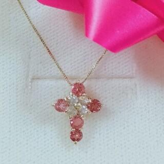 K18ピンク石ネックレス(ネックレス)