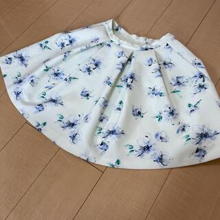 トランテアンソンドゥモード(31 Sons de mode)の【31 Sons de mode】花柄フレアスカート 36 Sサイズ Mサイズ(ひざ丈スカート)