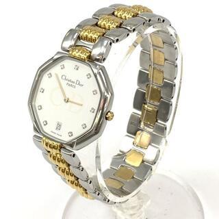 クリスチャンディオール(Christian Dior)のChristian Dior ディオール オクタゴン ダイヤインデックス 腕時計(腕時計)