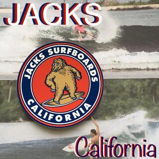 """ハーレー(Hurley)のJACKSジャックスCalifornia限定""""bigfootsurf""""ステッカー(サーフィン)"""
