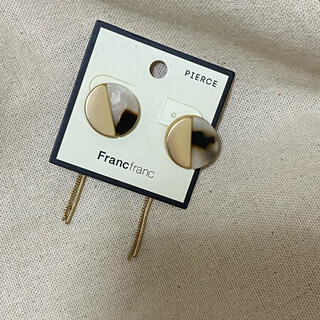 フランフラン(Francfranc)のFrancfranc ピアス べっこう ゴールド チタンポスト(ピアス)
