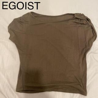 エゴイスト(EGOIST)のTシャツ カットソー トップス EGOIST エゴイスト カーキ(Tシャツ(半袖/袖なし))
