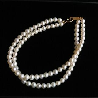 ジュエリーツツミ(JEWELRY TSUTSUMI)の【K18】◆真珠の2連ブレスレット / 17.5cm(ブレスレット/バングル)