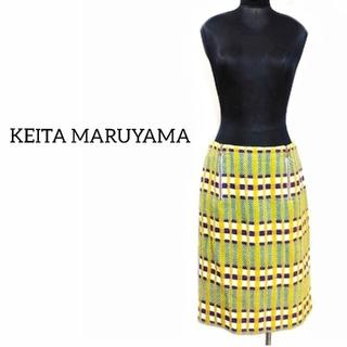 ケイタマルヤマ(KEITA MARUYAMA TOKYO PARIS)のケイタマルヤマ チェック柄 スカート 2 カラフル レディース(ひざ丈スカート)