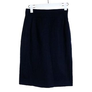 クリスチャンディオール(Christian Dior)のクリスチャンディオール タイトスカート ひざ丈 コットン 7 S 紺(ひざ丈スカート)