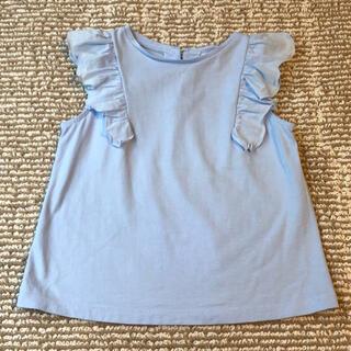 ジャカディ(Jacadi)のJacadi フリル袖 カットソー 4A ライトブルー(Tシャツ/カットソー)