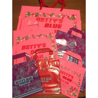 ベティーズブルー 袋 ショッパー 6枚 美品(ショップ袋)