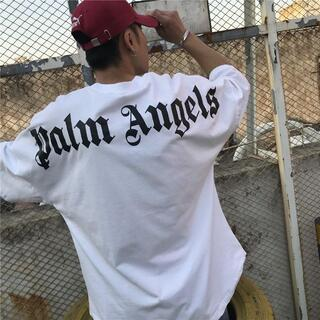 Palm Angels Tシャツ オーバーサイズ 新品未使用 L(Tシャツ/カットソー(半袖/袖なし))