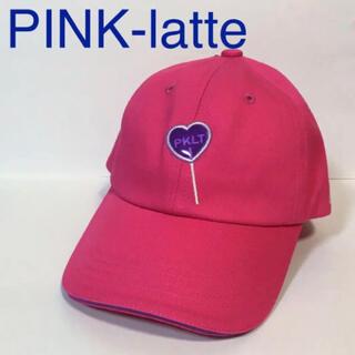 ピンクラテ(PINK-latte)の新品 ピンクラテ ハート キャンディー キャップ 帽子 ピンク キッズ 子ども(帽子)