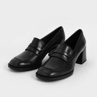 チャールズアンドキース(Charles and Keith)のCHARLES&KEITH チャールズアンドキース ペニーローファー 黒(ローファー/革靴)