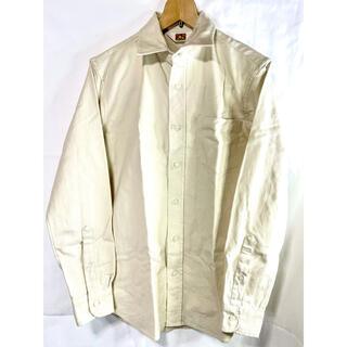 ベンデイビス(BEN DAVIS)のben davis ワークシャツ オフホワイト 白 Mサイズ(シャツ)