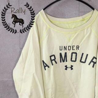 アンダーアーマー(UNDER ARMOUR)のB155 アンダーアーマー/古着/スウェット/ライトイエロー/アーチロゴ(Tシャツ/カットソー(七分/長袖))