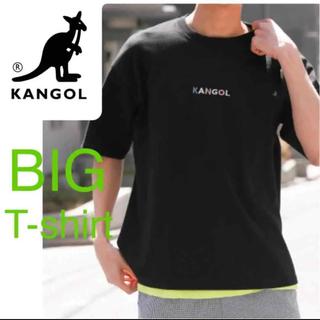 カンゴール(KANGOL)の新品 カンゴール ビッグシルエット Tシャツ レイジブルー メンズ ブラック(Tシャツ/カットソー(半袖/袖なし))