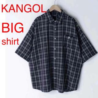 カンゴール(KANGOL)の新品 カンゴール モノマート ビッグシルエット シャツ メンズ チェック 半袖(シャツ)