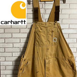 カーハート(carhartt)の90s 古着 カーハート  メキシコ製 オーバーオール サロペット ダック地(サロペット/オーバーオール)