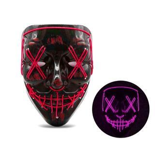 【新品・未使用】LED光るホラーマスク  ピンク(小道具)