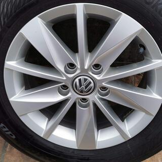 フォルクスワーゲン(Volkswagen)の【taka0712様専用】 ゴルフ7 純正アルミホイール+タイヤ 4本セット(タイヤ・ホイールセット)