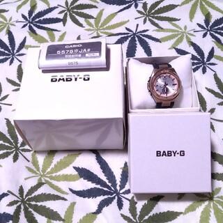 ベビージー(Baby-G)の電波ソーラー 腕時計 CASIO Baby-G msg-w200g ブラック(腕時計)