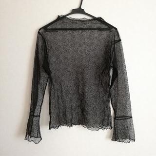 ディーホリック(dholic)の新品 黒の総レースTシャツ(Tシャツ(長袖/七分))
