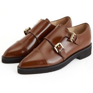 アダムエロぺ(Adam et Rope')のアダムエロペ ダブルモンク バックル シューズ ブラウン(ローファー/革靴)