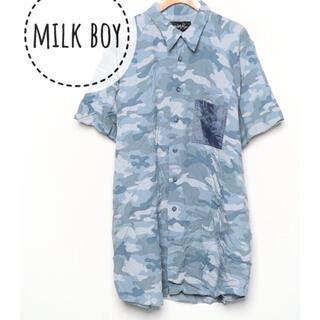 ミルクボーイ(MILKBOY)のMILK BOY【美品】迷彩 カモフラ柄 半袖 シャツ カットソー(シャツ)