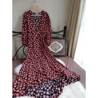 ツルバイマリコオイカワ(TSURU by Mariko Oikawa)のGANNI Lindale Crepe ドレス(ロングワンピース/マキシワンピース)