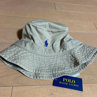 ポロラルフローレン(POLO RALPH LAUREN)の新品タグ付き 男女兼用 ラルフローレン バケットハット ベージュ LXL(ハット)