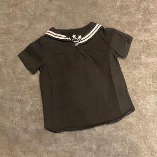 ロデオクラウンズワイドボウル(RODEO CROWNS WIDE BOWL)のRCWB*キッズ*セーラートップス*シャツ*ブラック*M(105〜115)(Tシャツ/カットソー)