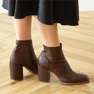 シールームリン(SeaRoomlynn)のSeaRoomlynn ECO LEATHER FIT ショートブーツ Lサイズ(ブーツ)