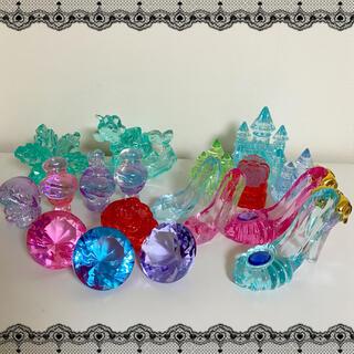 【No brand】アクリルアイス ガラスの靴 お城 ダイヤモンド セット(キャラクターグッズ)