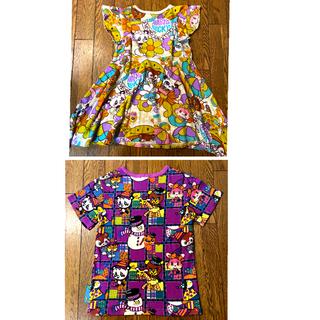 グラグラ(GrandGround)の未使用 グラグラ チュニック ワンピース&Tシャツ 2点セット130(ワンピース)