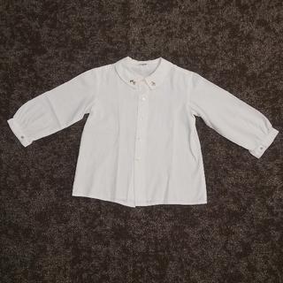 familiar - ファミリア familiar ブラウス シャツ 長袖 秋冬 日本製 100サイズ