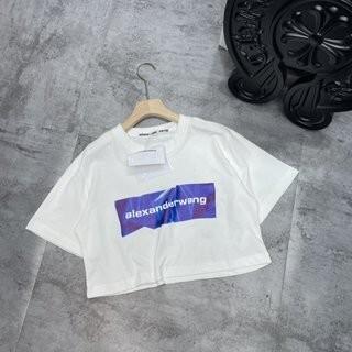 アレキサンダーワン(Alexander Wang)のAlexanderWang デニムのへそ半袖 B-1144(Tシャツ(半袖/袖なし))
