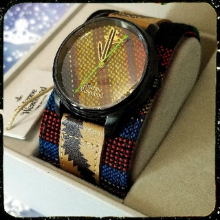 ヴィヴィアンウエストウッド(Vivienne Westwood)の新品・レア・スクイグル柄・AFRICA・CUFF・WATCH(腕時計)