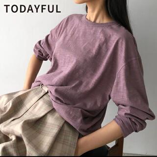 トゥデイフル(TODAYFUL)のtodayful オーガニックコットンTシャツ(Tシャツ(長袖/七分))