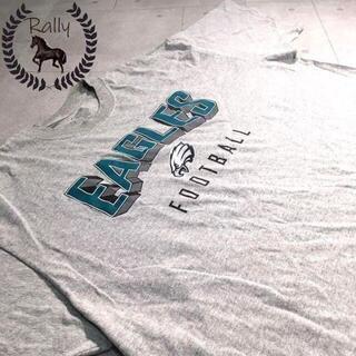 B251 古着/半袖/Tシャツ/リーボック/プリント/アメフト/EAGLS/レア(Tシャツ/カットソー(半袖/袖なし))
