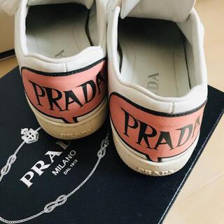 プラダ(PRADA)の美品‼︎ PRADA プラダ スニーカー 踵ロゴ 37 24㎝(スニーカー)