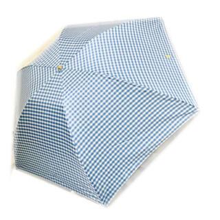ポロラルフローレン(POLO RALPH LAUREN)の新品♡ギンガムチェック 折りたたみ傘 ブルー(傘)