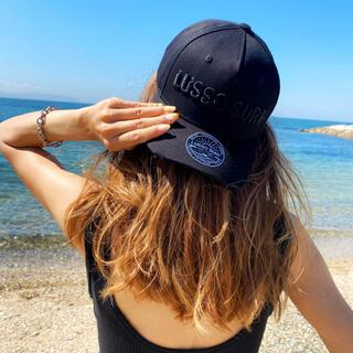 ザノースフェイス(THE NORTH FACE)の西海岸系☆LUSSO SURF 刺繍ロゴキャップ 帽子 ブラック(キャップ)