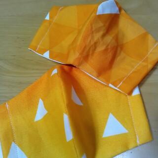 和柄 麟柄 黄色 インナーマスク (外出用品)